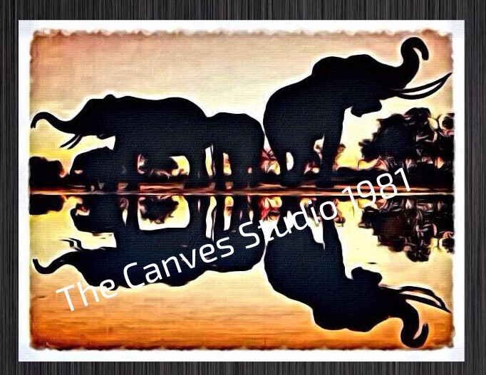 African Landscape Canvas wall hanging for your wall space (new£