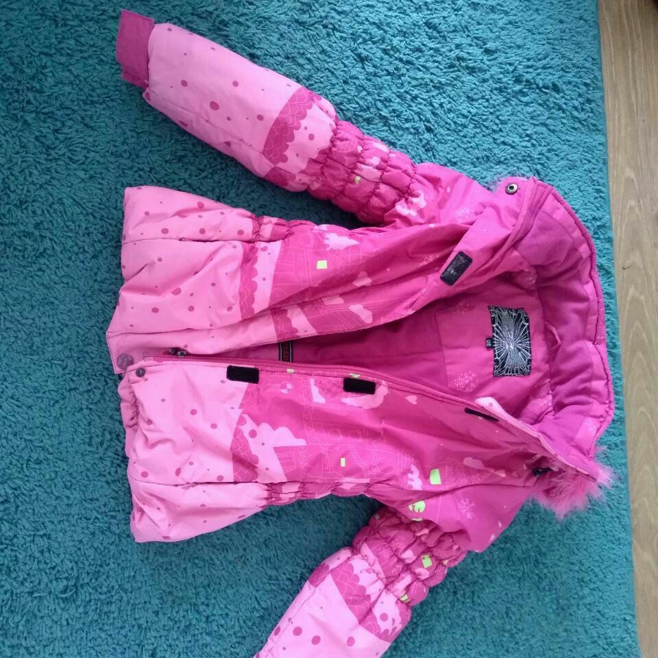Winter warm pink jacket 120cm