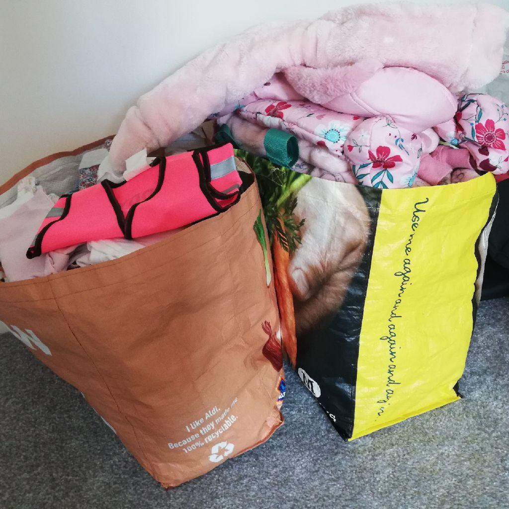 Big bundle of baby clothes