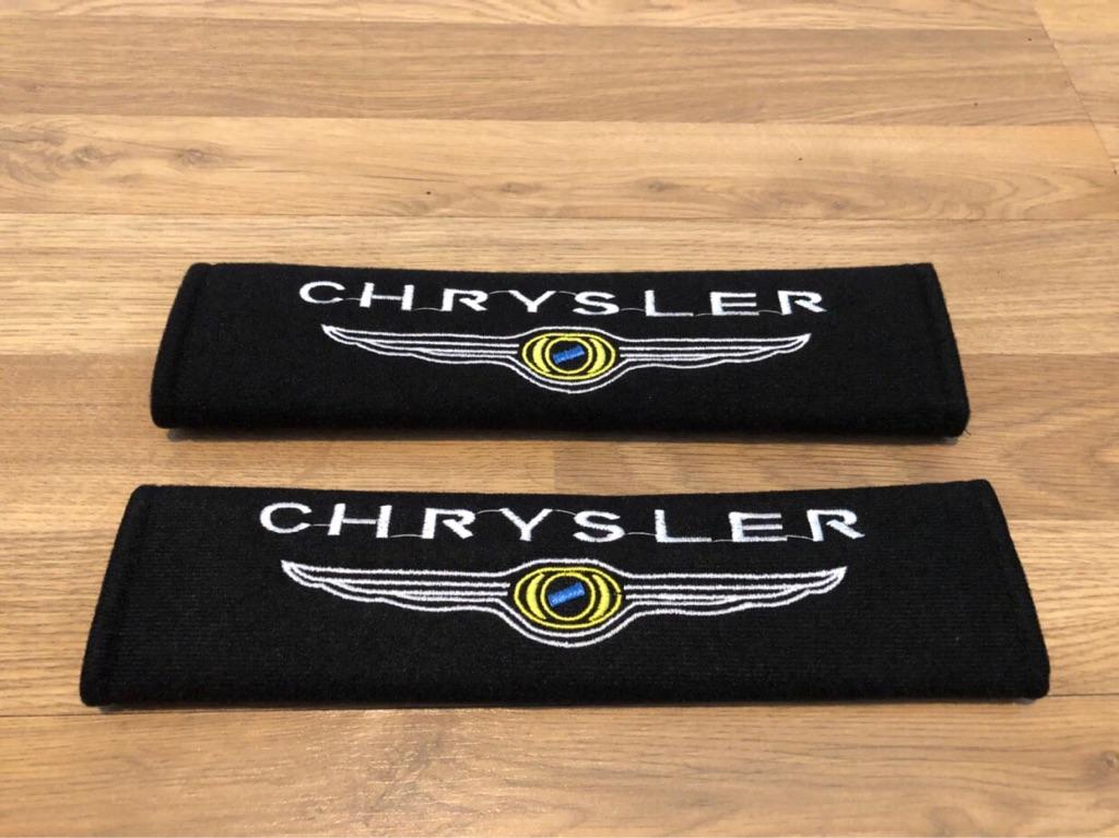 2x Seat Belt Pads Gift Chrysler 300C Grand Voyager Crossfire Sebring Ypsilon Delta