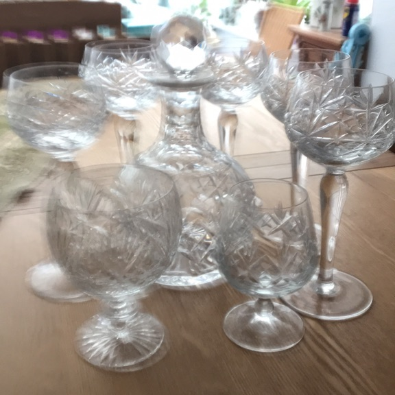 Crystal Glasses plus Decanter