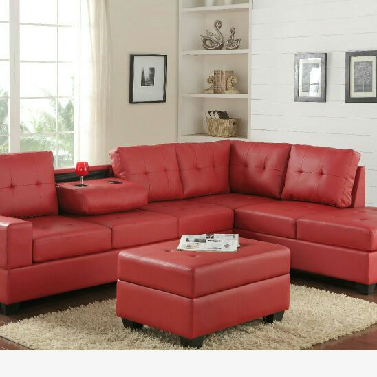New Happy Homes Reversible Sectional set with Ottoman