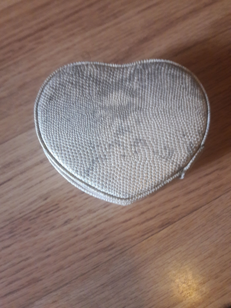 Small heart shaped jewellery box .