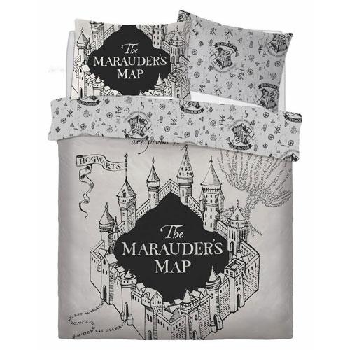 Official Harry Potter marauders map reversible duvet set