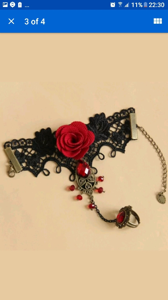 hand lace jewellery