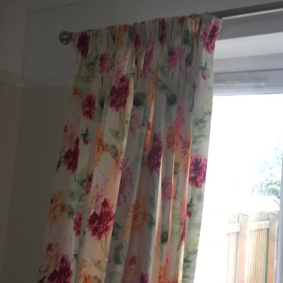 Laura Ashley Pink Dhalia Curtain