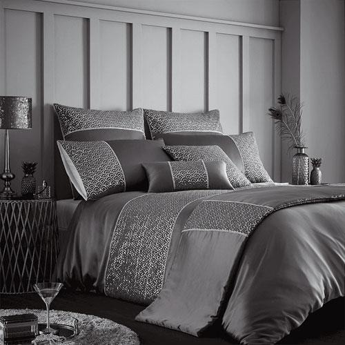 Horimono charcoal luxury duvet set