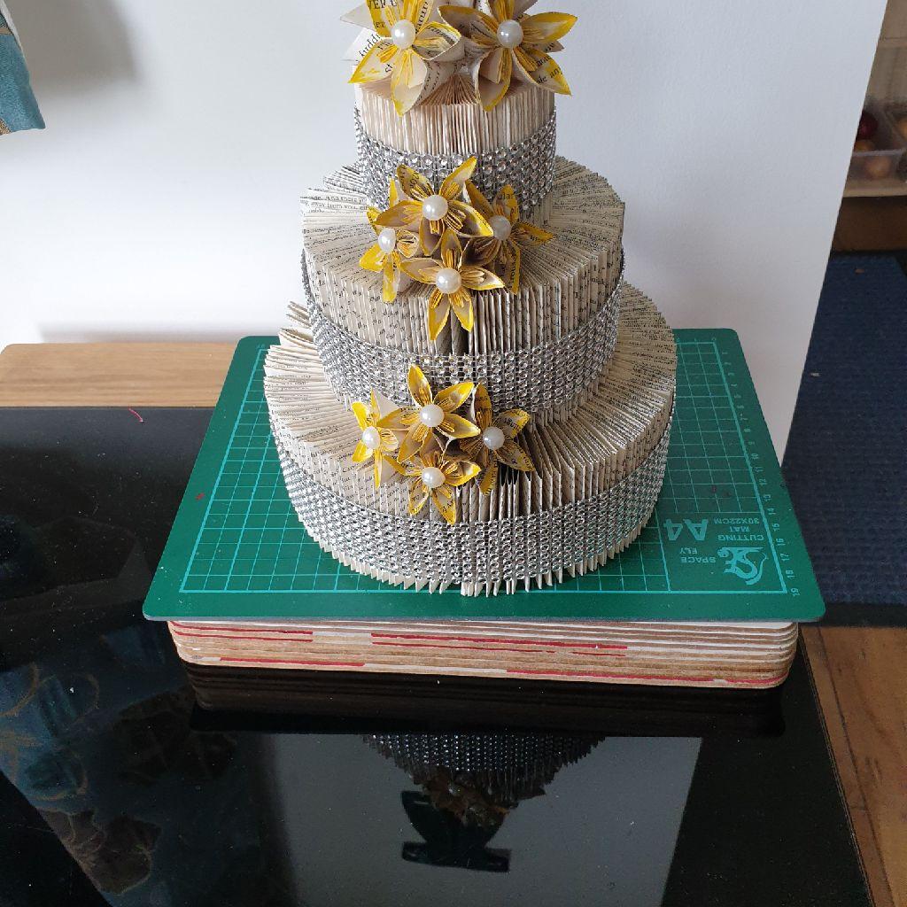 Book folded cake