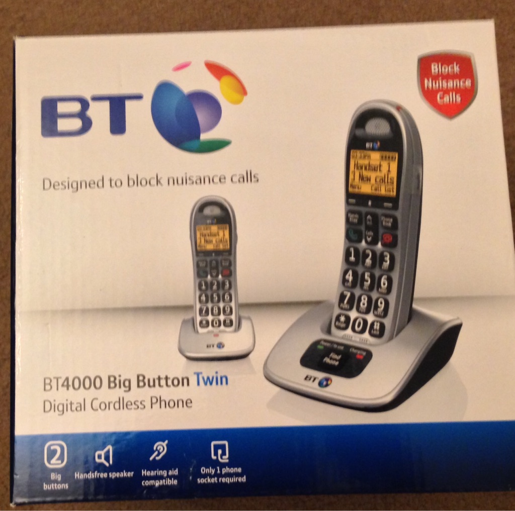 BT4000 Big Button Twin Cordless Phones