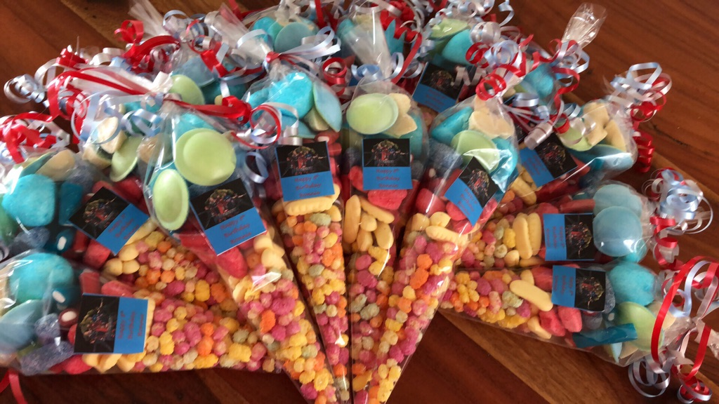 Sweet cones and party bags