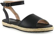 Essex glam women's flat ankle strap espadrilles