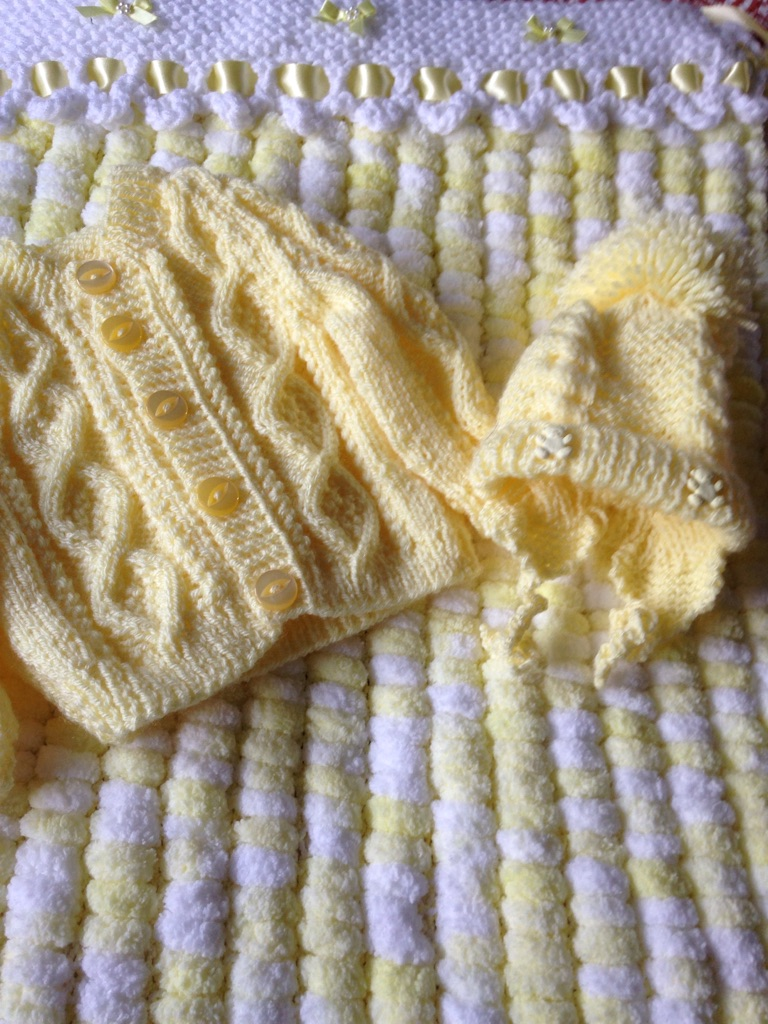 Hand knitted baby bundles