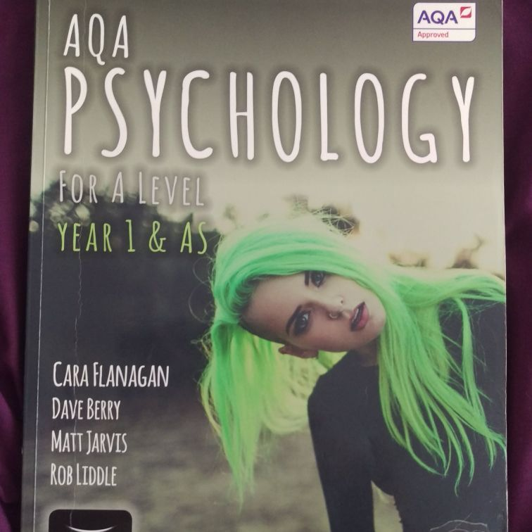 Psychology A level AQA revision book