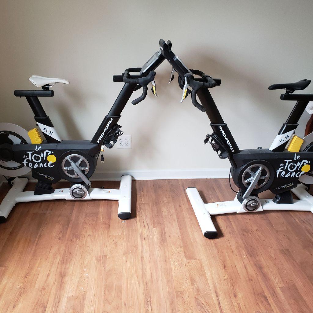 Le tour de France exercise bikes.