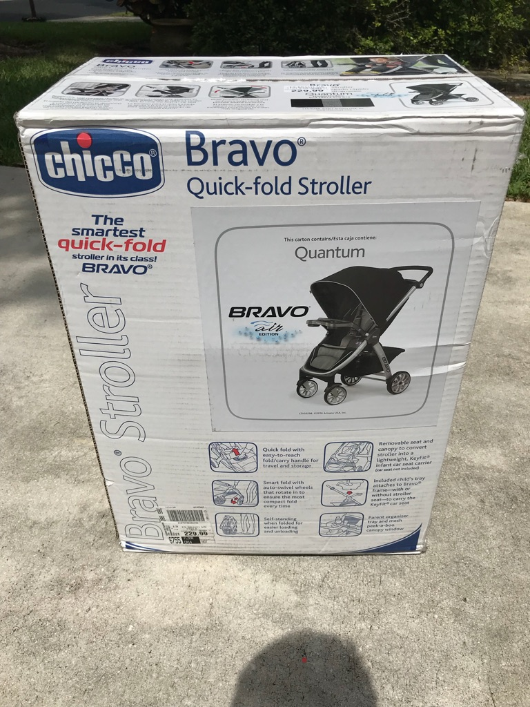 NEVER USED STROLLER BRAVO QUICK-FOLD