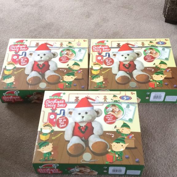 X3 build your own Christmas teddy bears