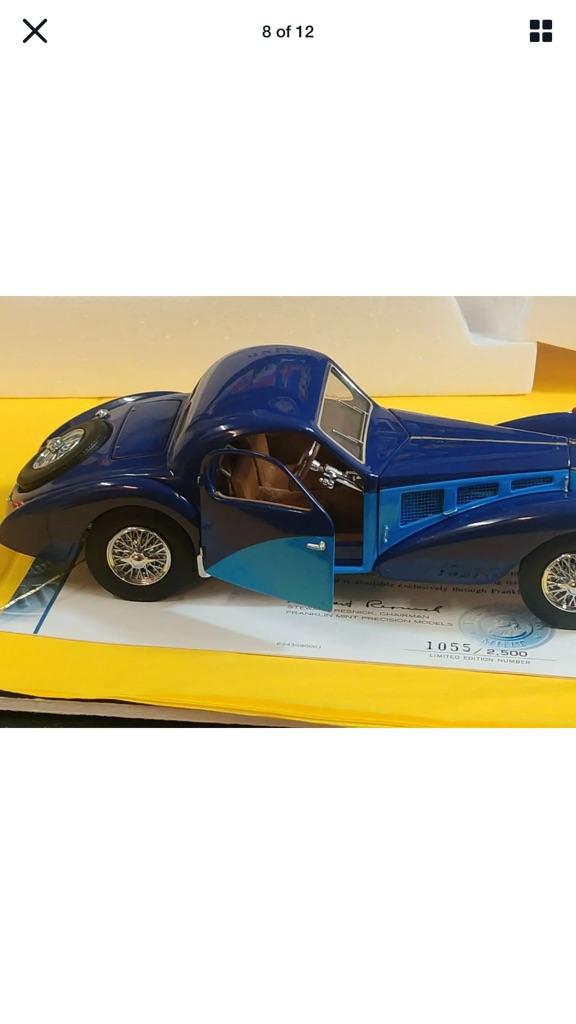 Very rare Franklin mint 1936 Bugatti