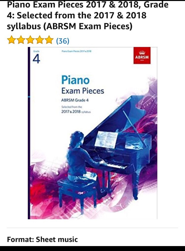 Piano Exam Pieces Grade 4
