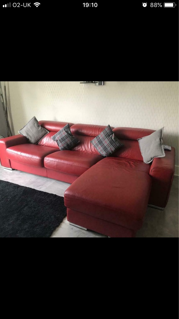 Italian leather sofa bed