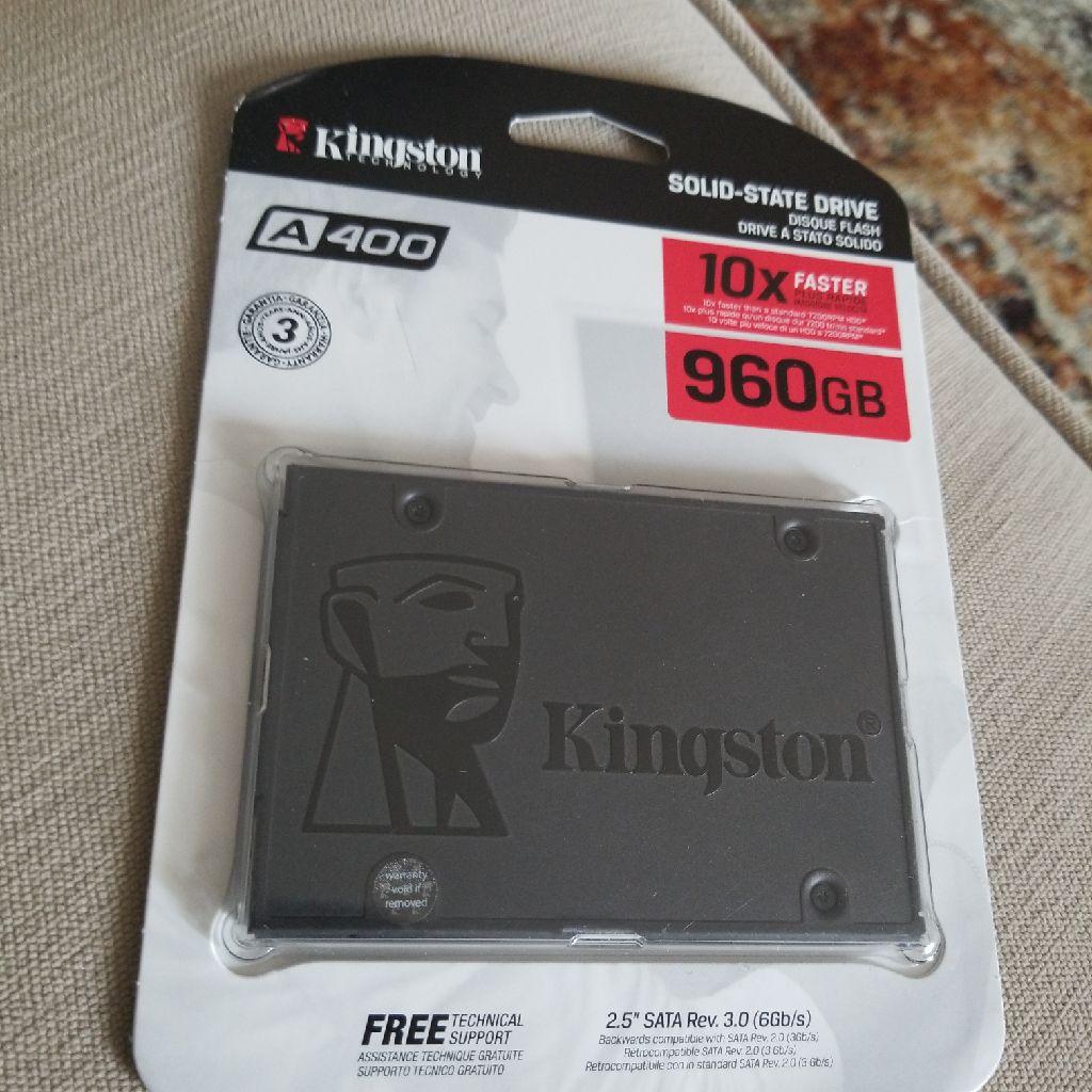 "Kingston A400 SSD 960GB SATA 3 2.5"" Solid State Drive SA400S37/960G - Increase Performance"