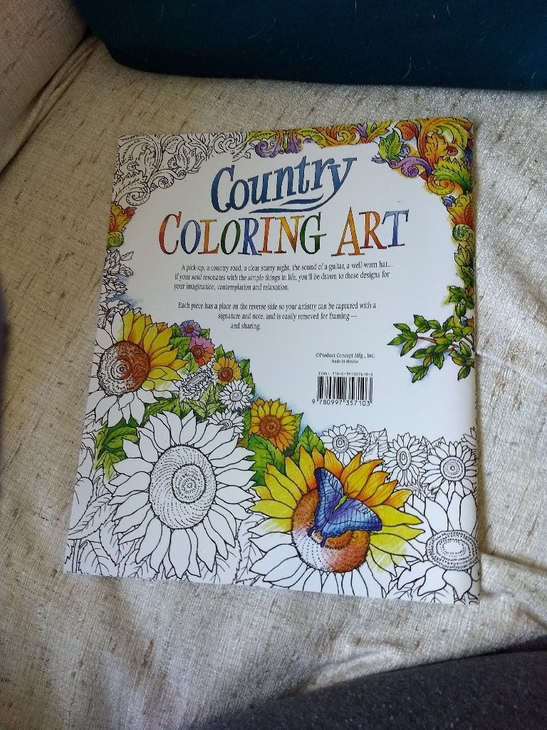 Coloring book with quotes