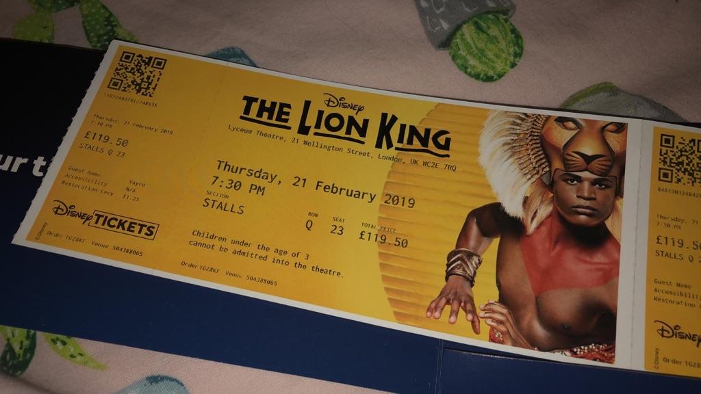 Disney Lion King Tickets