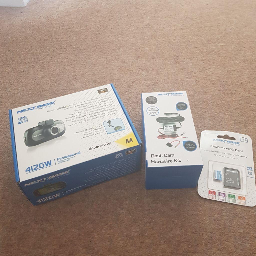Nextbsse 412 dashcam with SD card & hardware kit