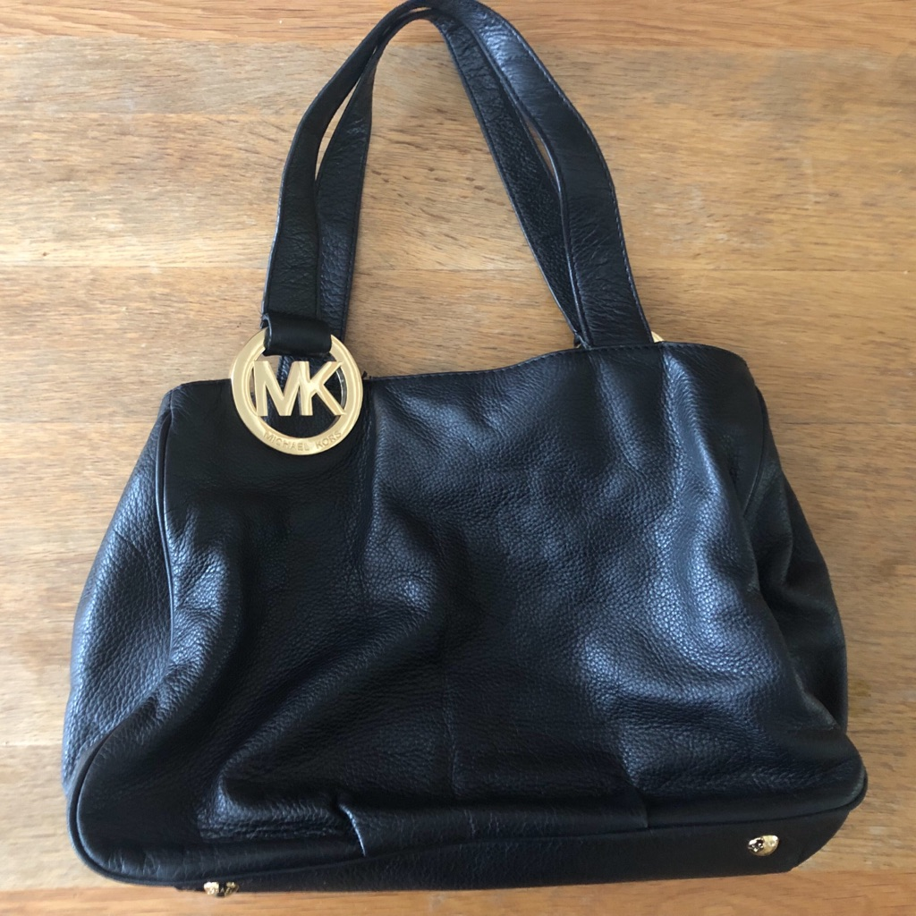 Vintage Michael Kors Black Shoulder Bag (Fall Collection 2012)