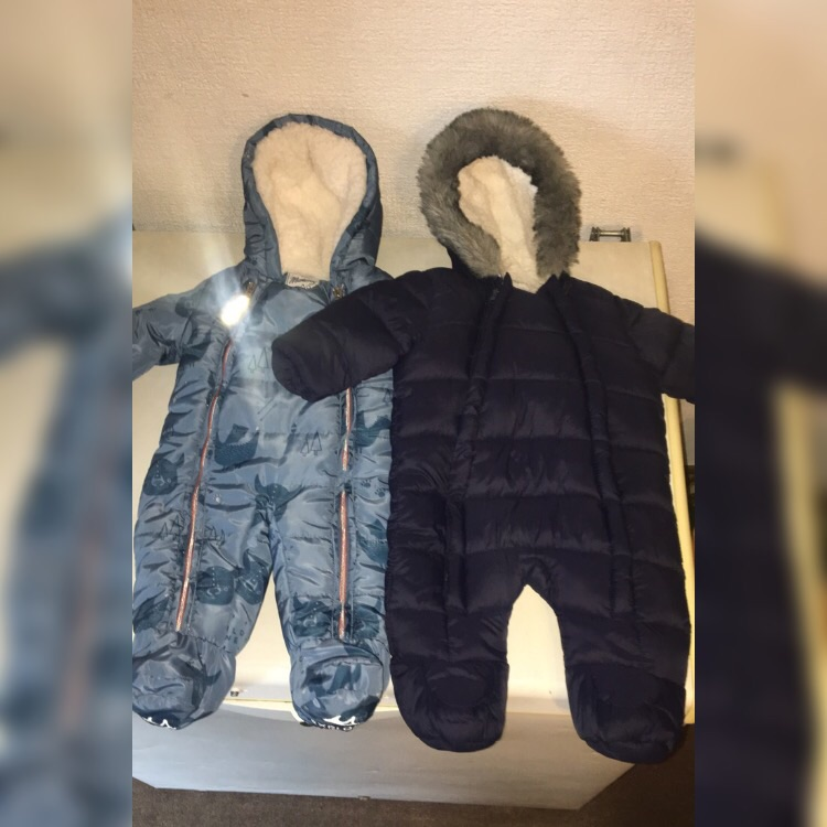 Two all in one baby boy coats