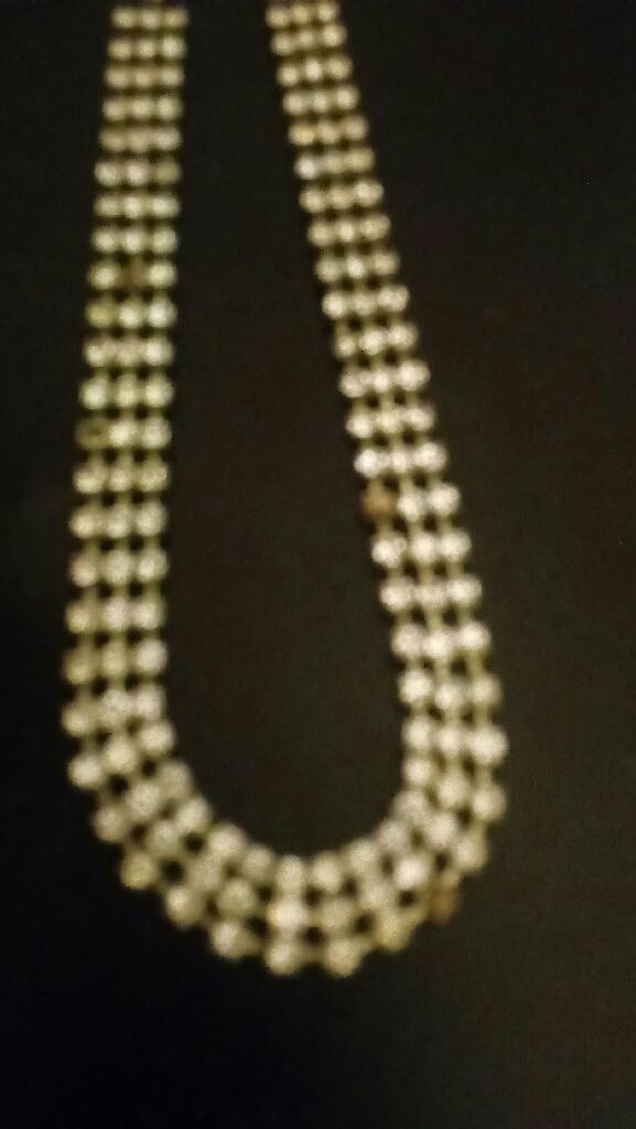 Vintage Rhinestone Choker Chain