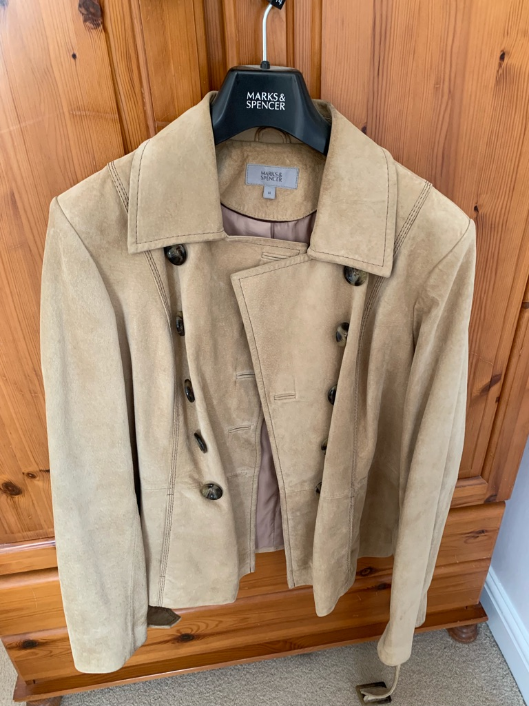 Marks and Spencer's suade coat
