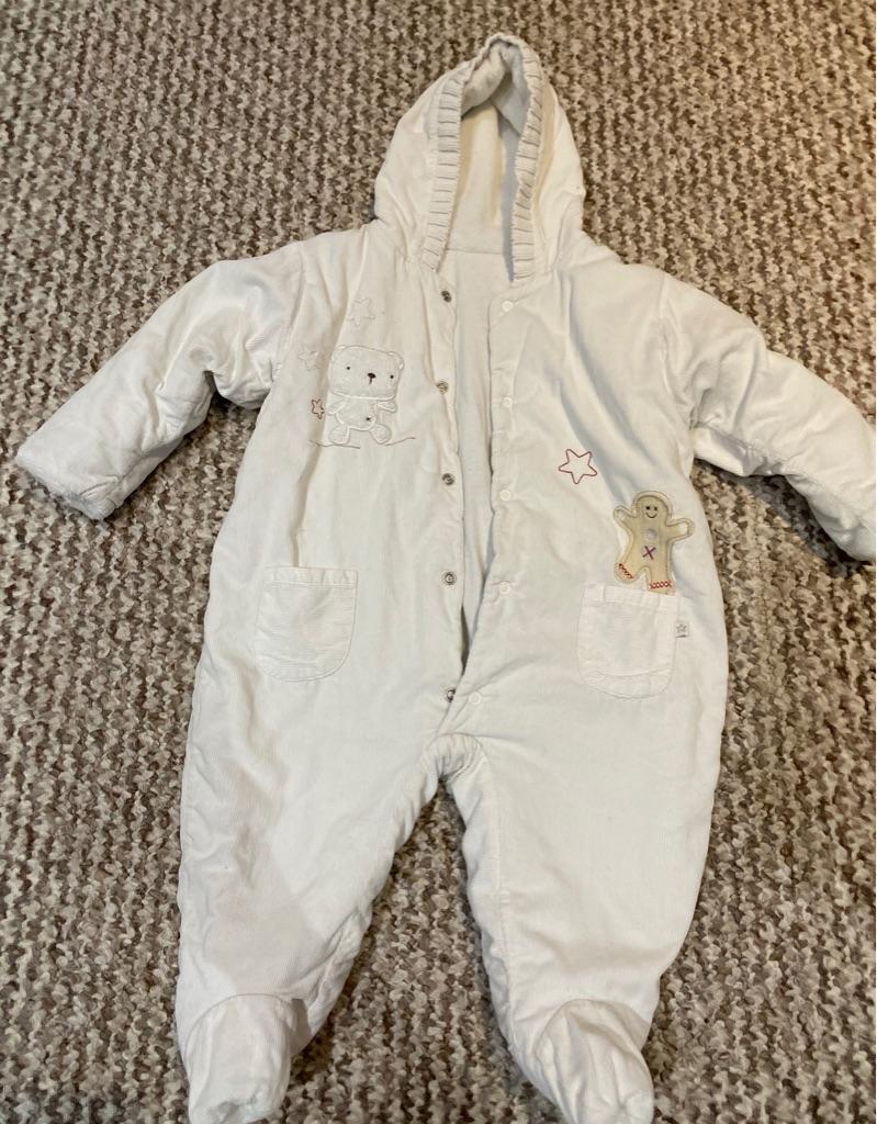 M&S baby snowsuit 3-6 months