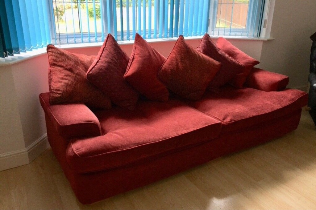 2x 4 seater DFS sofas with footstool
