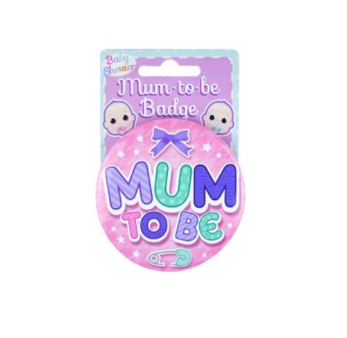 Mummy to be badge pink