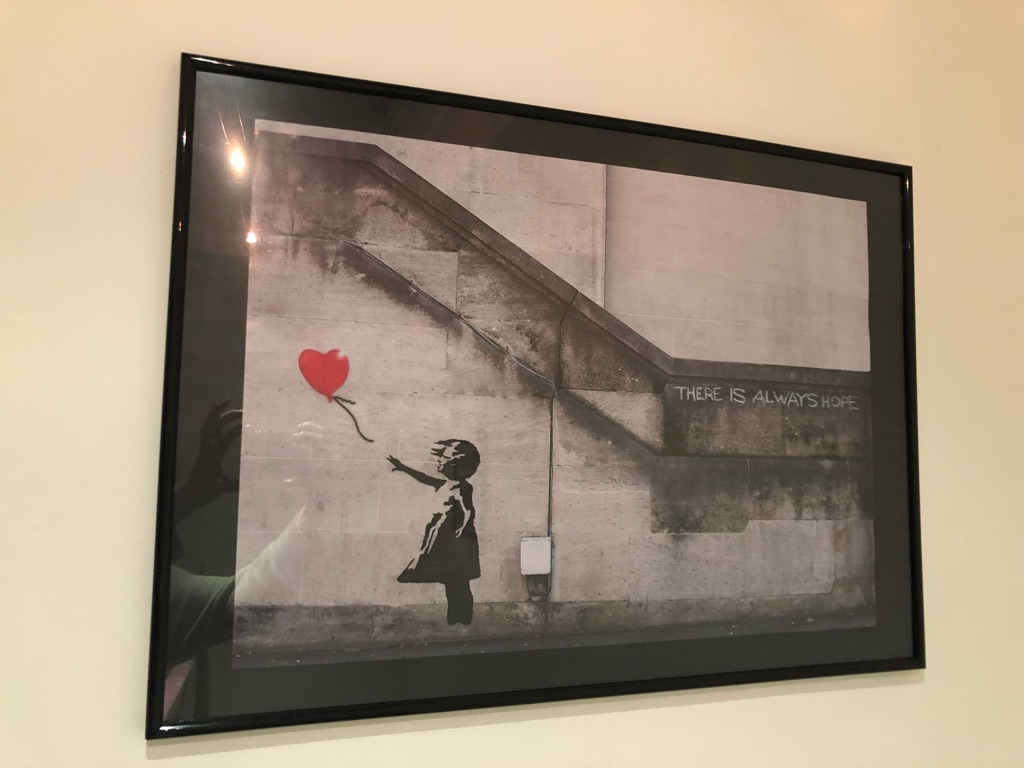 Banksy picture in frame