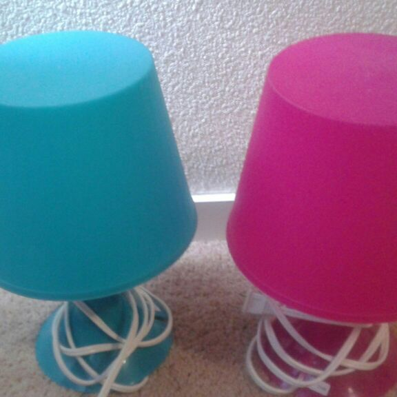 Ikea children's plastic lamps