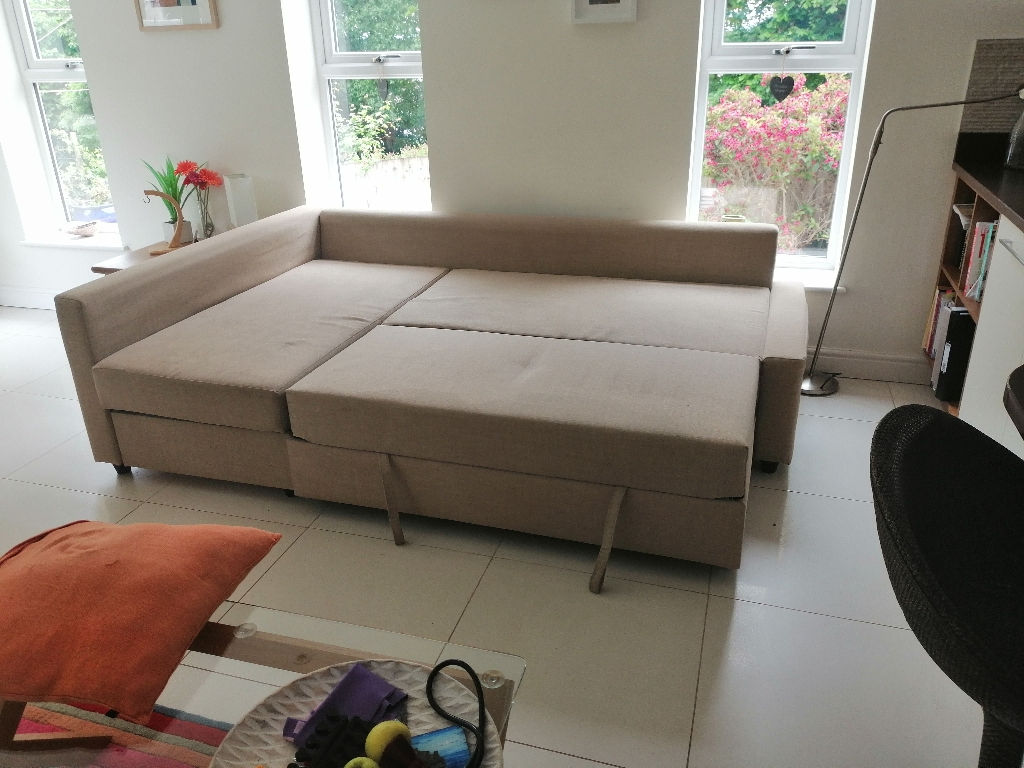 Ikea friheten sofa bed and cover
