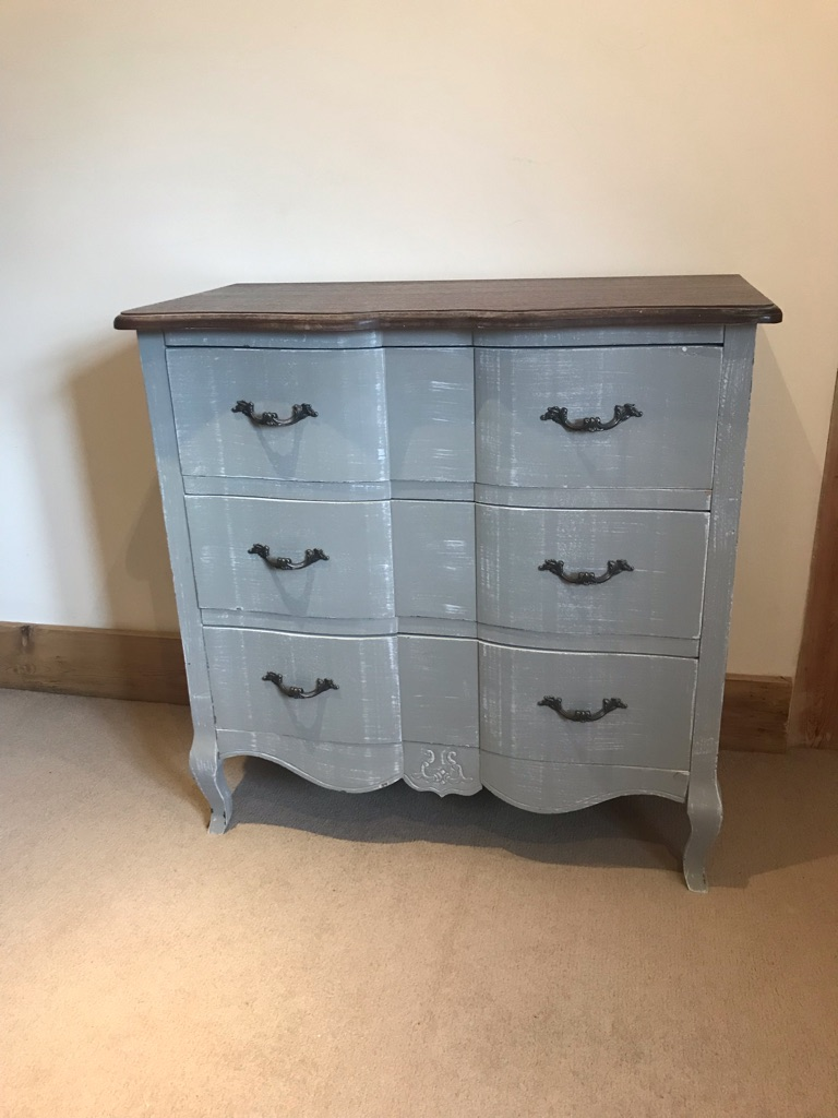 Distressed check of drawers