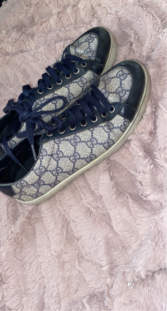 Navy Gucci trainers
