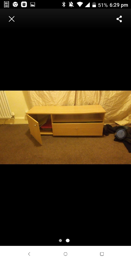 Wood tv stand with drows