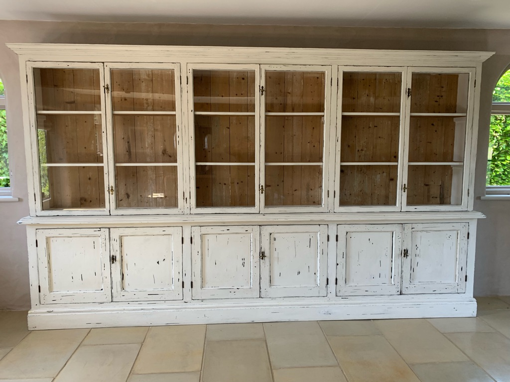 Extra long Cotswold Cupboard w/ glass doors