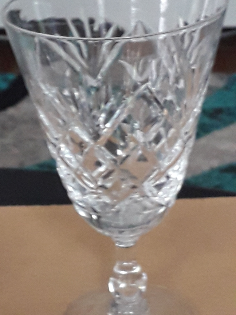 3  stuart crystal sherry glasses