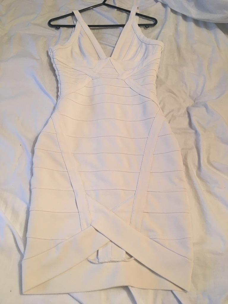 White bandage dress XS