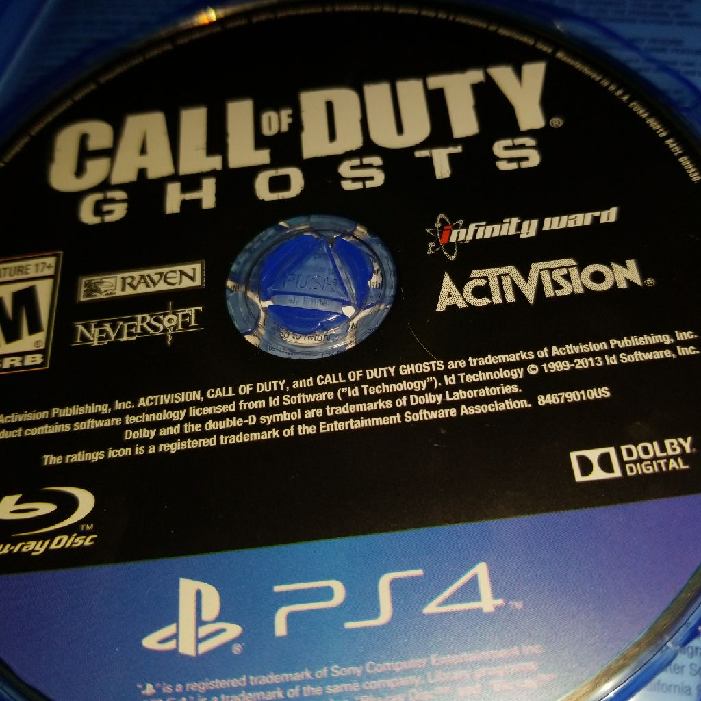 Cod Ghost game for ps4