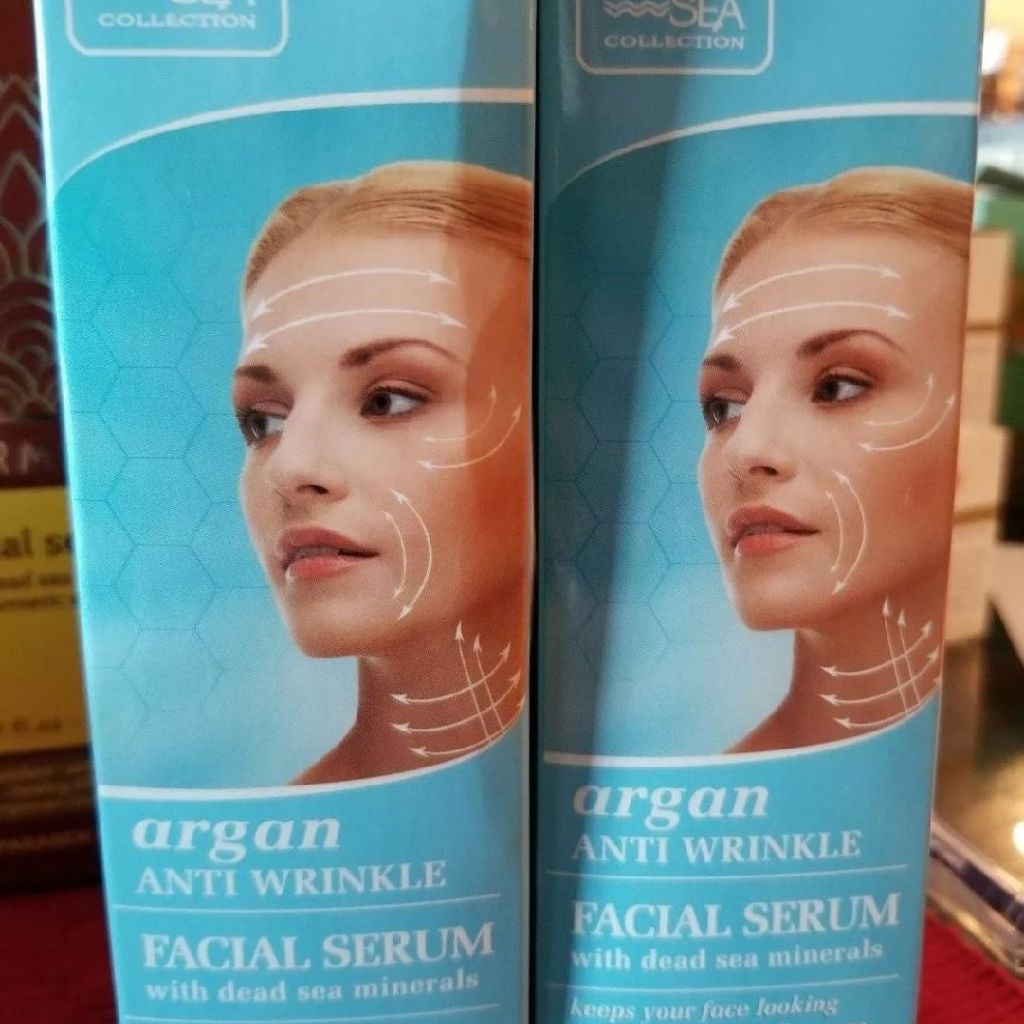 Lot of 2 Dead Sea Minerals Collection Argan Anti-wrinkle Facial Serum 1.01fl