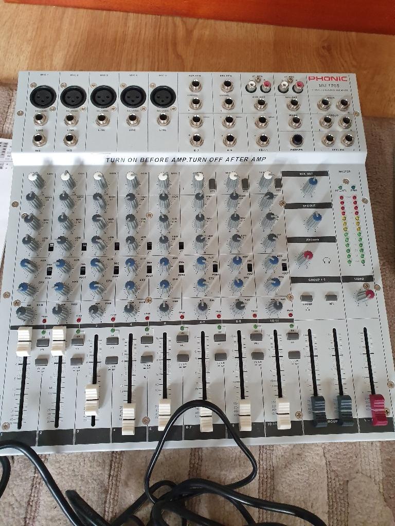 Phonic mixer mu 1705