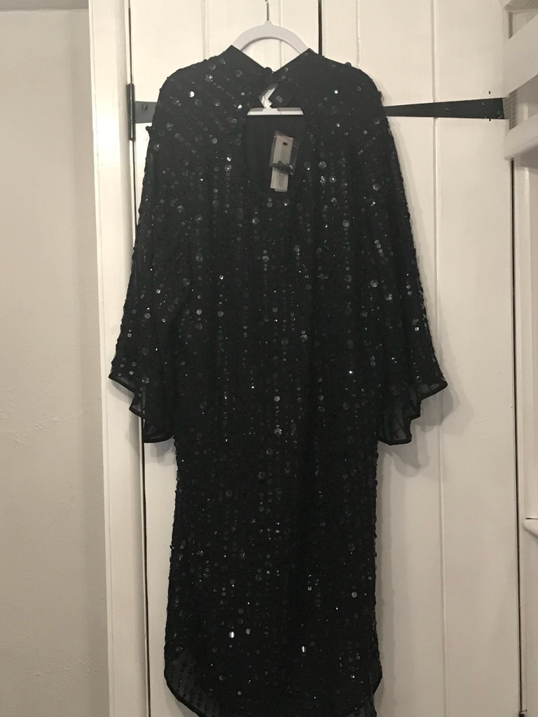 River island black swing dress