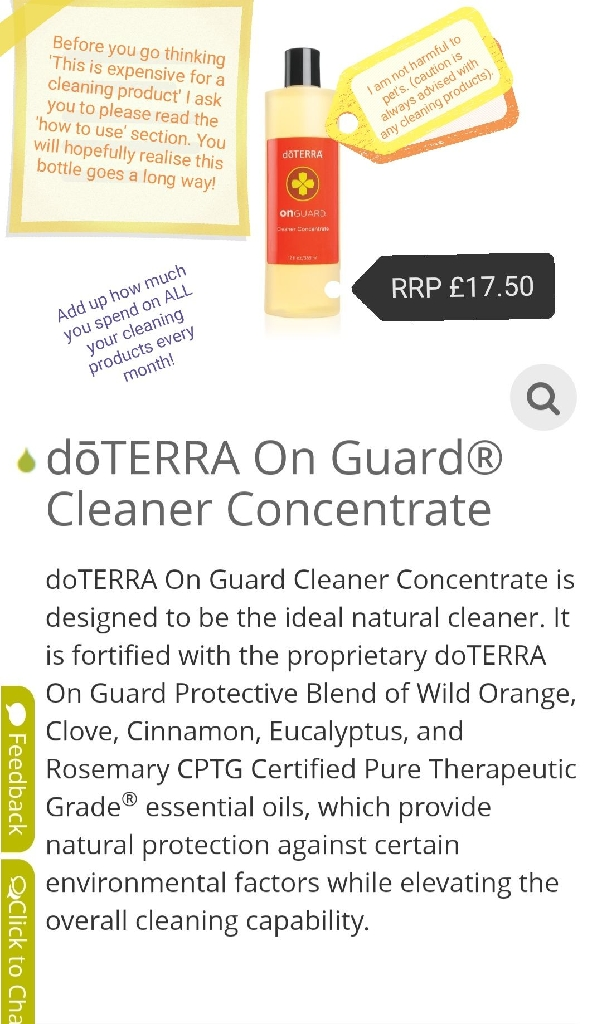 doTerra onguard cleaner concentrate