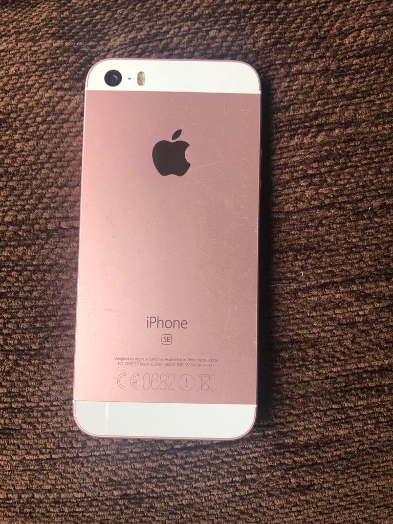 Rose gold iPhone se