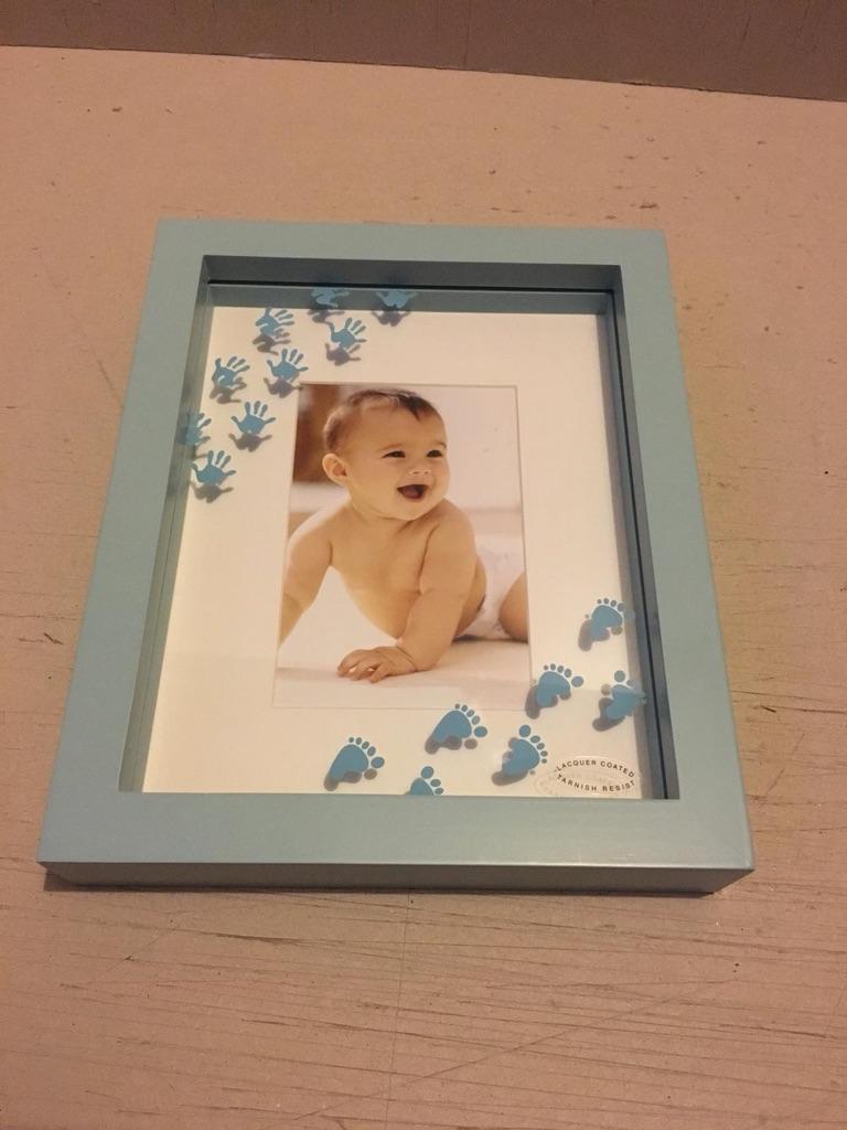 3D blue box photo frame / wall plaque
